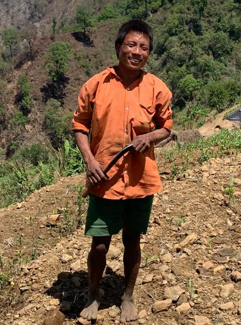 A Chepang man in Makwanpur, Nepal