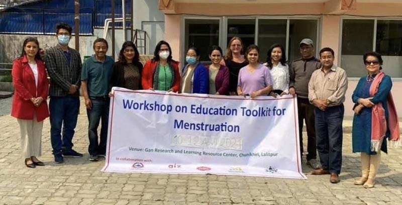 Dignity Without Danger team showing the importance of education surrounding menstruation
