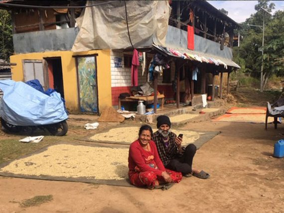 Relief work in the Himalayas